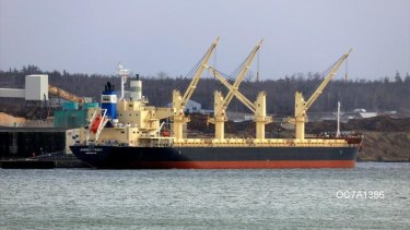 The Darya Krishna is expected to arrive at Gage Roads, out f Fremantle, on Monday.