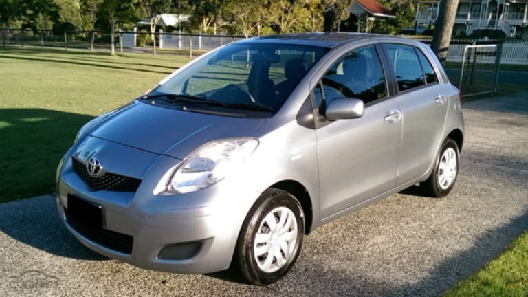 The vehicle involved is believed to be silver, mid-2000s model Toyota Yaris hatch, similar to the car pictured.