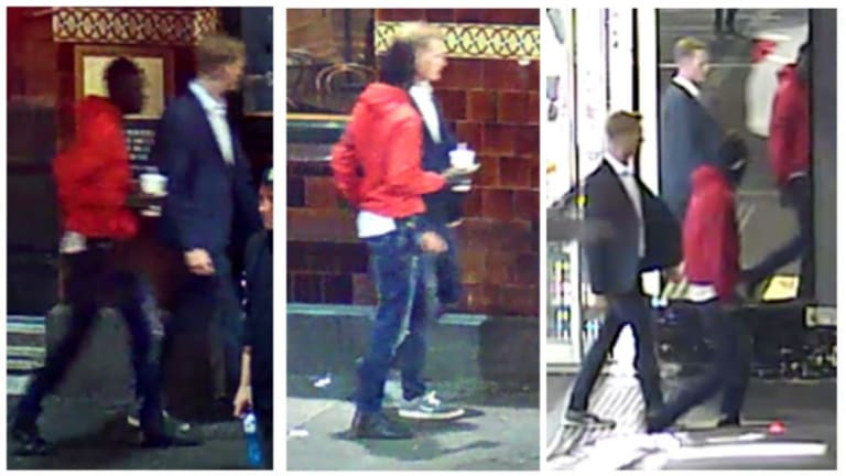 Two men who police believe helped the victim of a sex assault in Melbourne's CBD in June.