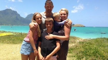 Tanya Plibersek with husband Michael Coutts-Trotter with children Anna, Joe and Louis.