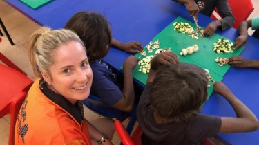 Tricolours Racing Syndications boss James Moss' wife Danielle has been volunteering in a remote indigenous community in the week of the Golden Eagle.