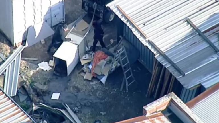 The body was found at a storage unit in Oakleigh South.