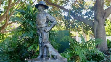 The Drover's Dog sculpture is now at the South Bank Parklands.
