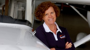 Catherine Fitzsimons, the owner of Bathurst's WardAir flight school, was critically injured in the plane crash.