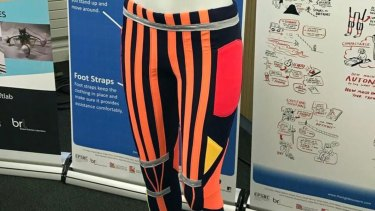 The smart pants contain 'soft robotic' muscles that can help get people moving.