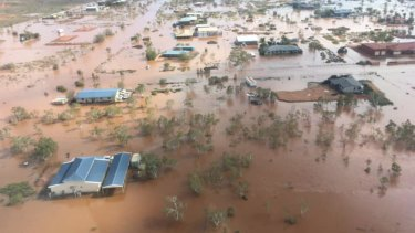 Parts of South Hedland have been landlocked following Cyclone Veronica.