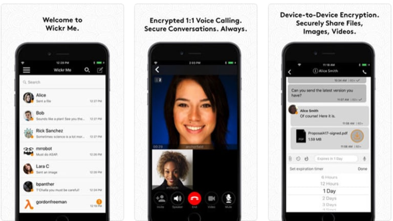 Apps like encrypted messaging service Wickr has proven tough for law-enforcement to crack.