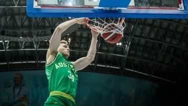 Jock Landale represents his country against Kazakhstan in February.