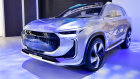 SAIC's Pure Electric SUV concept car debuts at the 2018 Beijing Auto Show.