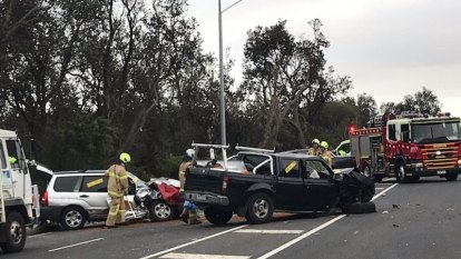 Woman killed in horror crash after car 'crosses onto wrong side of Nepean Hwy'
