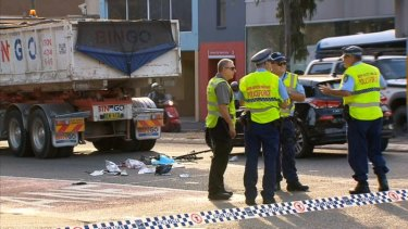 A cyclist has died almost a week after she was involved in a truck crash on Parramatta Road.