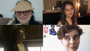 (Clockwise from top left) Courtney Smith, 20; Katrina McKeough, 21; Kirsten Van Gorp, 22; and Lochlan Parker, 20, were killed in a crash at Advancetown in the Gold Coast hinterland on Saturday, July 25, 2020.