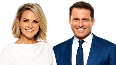 Karl Stefanovic with Today co-host Georgie Gardner.