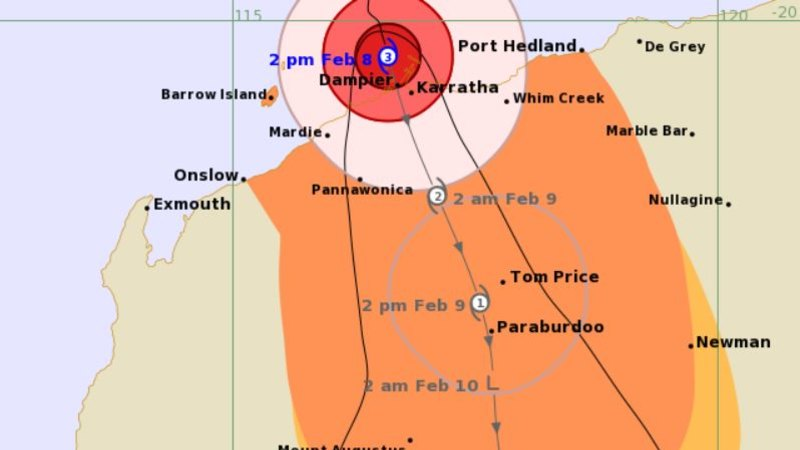 Cyclone Damien Closes In On Wa Coast With Pilbara On Red Alert Live