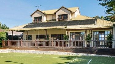 Ashton Agar's new home in Dalkeith features a tennis court.