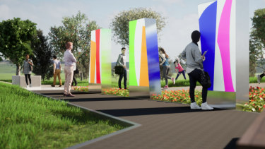 Jane Cavenough's colourful light boxes is one of the designs shortlisted for a memorial to victims of gay hate crimes.