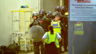 Riot police, dog handlers called after another riot at the Melbourne Youth Justice Centre in Parkville in November, 2016.