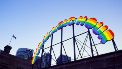 That funny rainbow sign: Our Magic Hour in Cremorne