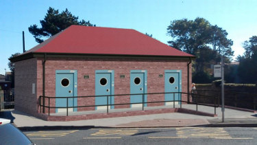 The proposed public toilets in Porthcawl, Wales.