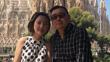 Yang Hengjun and his wife, Yuan Xiaoliang, photographed in Barcelona.