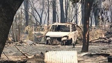The damage and destruction left by the central Queensland bushfires.
