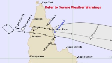 The forecast map for ex-Tropical Cyclone Penny issued on Wednesday.
