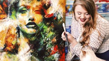 Daylesford artist Tahlia Stanton uses her TikTok profile to document her work
