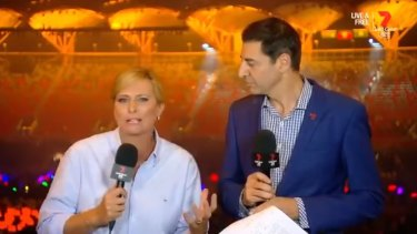 Seven Network commentators Basil Zempilas and Johanna Griggs voiced their fury at the decision to exclude athletes from the closing ceremony broadcast.