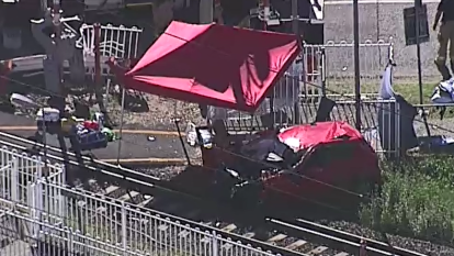 Cleveland line trains suspended after fatal car collision