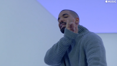 Drake dancing in 'Hotline Bling'.