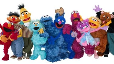 The muppet cast of Sesame Street.