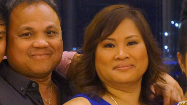 Perven and Mary Ann Abellanoza. Ms Abellanoza has been accused of defrauding her employer, Silversea Cruises, of $3.5 million over four years.