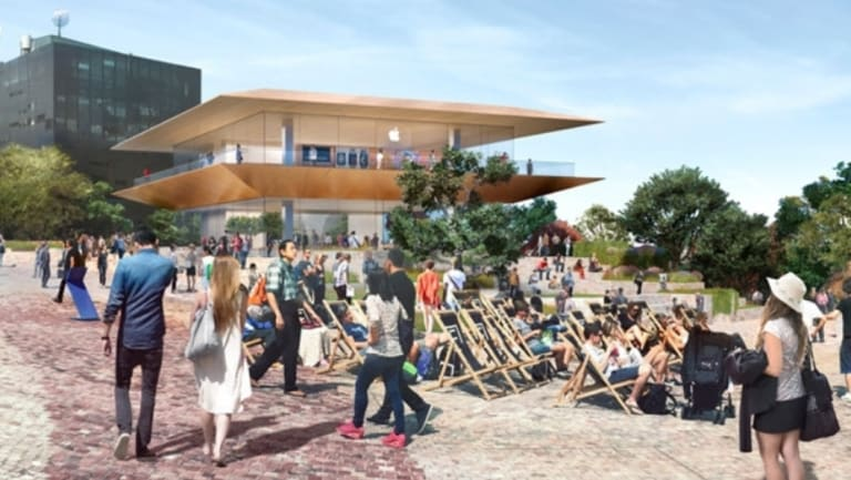 An artist's impression of the new Apple flagship store.