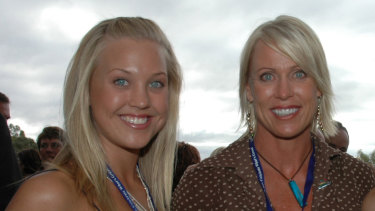 Jaimi Curry Kenny (left), daughter of Lisa Curry and Grant Kenny, has died aged 33.