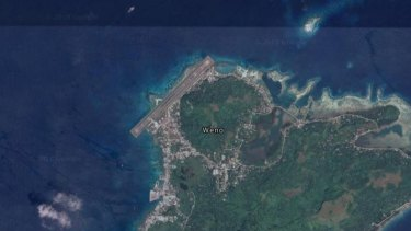 The plane was due to land at Weno airport but ended up in the Chuuk Lagoon.