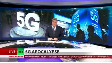 "Russian-backed news site RT's warnings of a ""5G apocalypse"" might not be what they seem."