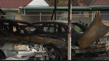 The fire was believed to have started in the backyard carport of a block of units.