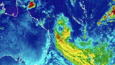 TC Oma will swing north and move along the Queensland coast from Saturday afternoon.