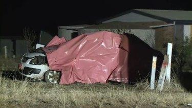 The crash scene near Ararat.
