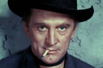 Kirk Douglas in the 1955 film Man Without a Star.