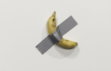 The banana on the wall was a masterpiece –until somebody ate it
