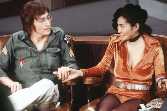 A 1971 photo of John Lennon and Yoko Ono.