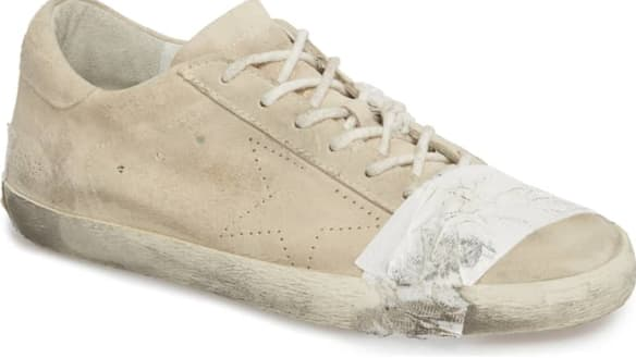 We're now being asked to pay $700 for dirty sneakers with duct tape