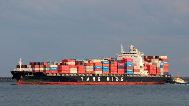 YM Efficiency lost 83 containers overboard off the central coast.