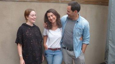 Fernanda Fain-Binda with her au pair, Lisa, left, and husband, Hugh.