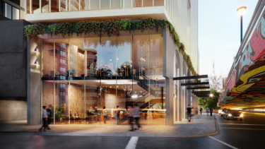 """The site would deliver a """"unique corporate traveller hotel development"""" with 212 rooms and an open, double-height foyer."""