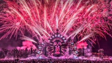 A photograph of last year's Defqon.1 festival.