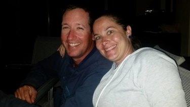 Corey Christensen with his wife Jaye.