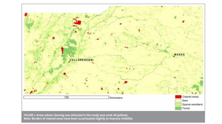 The region studied is around Collarenebri in northern NSW.