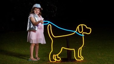 Neon Dog Park, created by visual artist Carla O'Brien, will be in the Parliamentary Triangle for Enlighten. It will feature various lit-up pooches - and even neon doggy-doo.